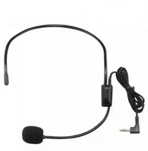 Headset microphone, multi-function loudspeaker microphone, headphone amplifier
