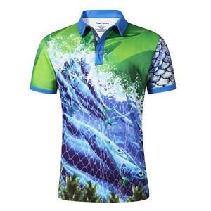 High Quality hot summer Sportswear anti uv clothing 100% Polyester Fishing Shirt