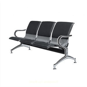 Hospital medical Pu leather 3 seats transfusionwaiting chair