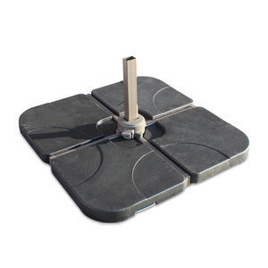 Hot sales plastic parts 100 kg weight 84*84*17 cm stand patio cantilever umbrella base