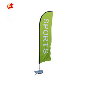 Hot style custom polyester outdoor party wholesale beach feather tear drop flag outdoor banner stand teardrop flag pole