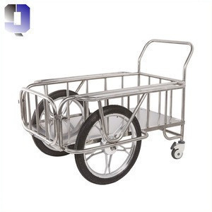 JQ-B38 stainless steel hospital furniture delivery trolley medical delivery cart medical carts and trolleys