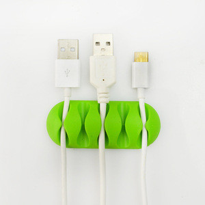 Management System Desktop Cable Organizer Computer Electrical Charging or Mouse Cord Holder plastic wall cable clip