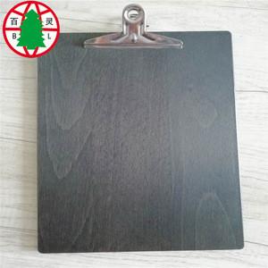 Menu  Clipboard of solid wood
