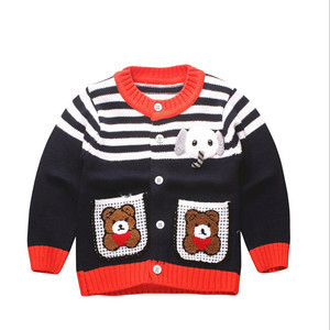 MS61542C wholesale baby cartoon bear pattern sweaters models for children