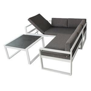 Multi function Aluminum olifen Cushion Corner garden furniture Sofa outdoor patio lounge Set