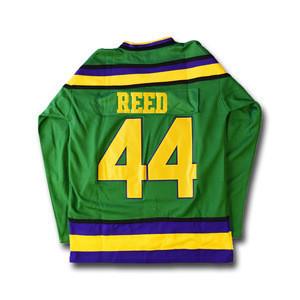 Reed #44 Mighty Ducks Green Hockey Jersey
