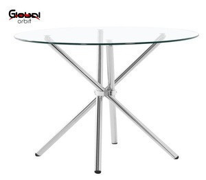 Round Dining Table Hotel Lobby Round Glass Table