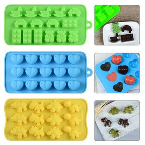 SILIKOLOVE 6pcs/set Silicone Baking Cases Bake Mold Animal Heart Car Shape Pan Bakeware DIY Chocolate Moulds Baking Tools