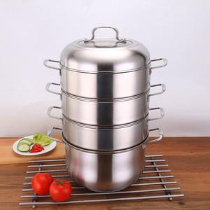Stainless Steel four layer food steamer pot stock pot cooking pot stainless steel cookware dumpling steamer for kitchen