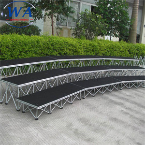Supplier Modular Stage Platform Audience Chairs Portable Step Stair Riser Stage