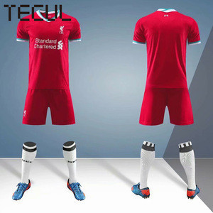 TECUL liver-pool football jersey new national team customized uniforms blank home and away jersey football uniforms
