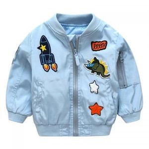 Wholesale 5 colors dinosaur print kids jackets boys and girls coats