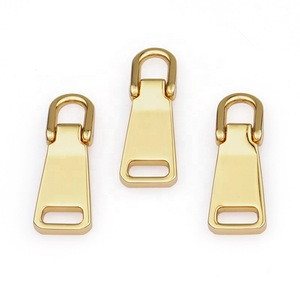Wholesale Bag Blank Zip Puller Design, Garment Custom Metal Zipper Pulls Logo, Gold Metal Zipper Puller Slider for Handbags