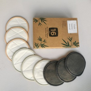 Zero waste reusable bamboo sanitary cotton pads makeup remover pads