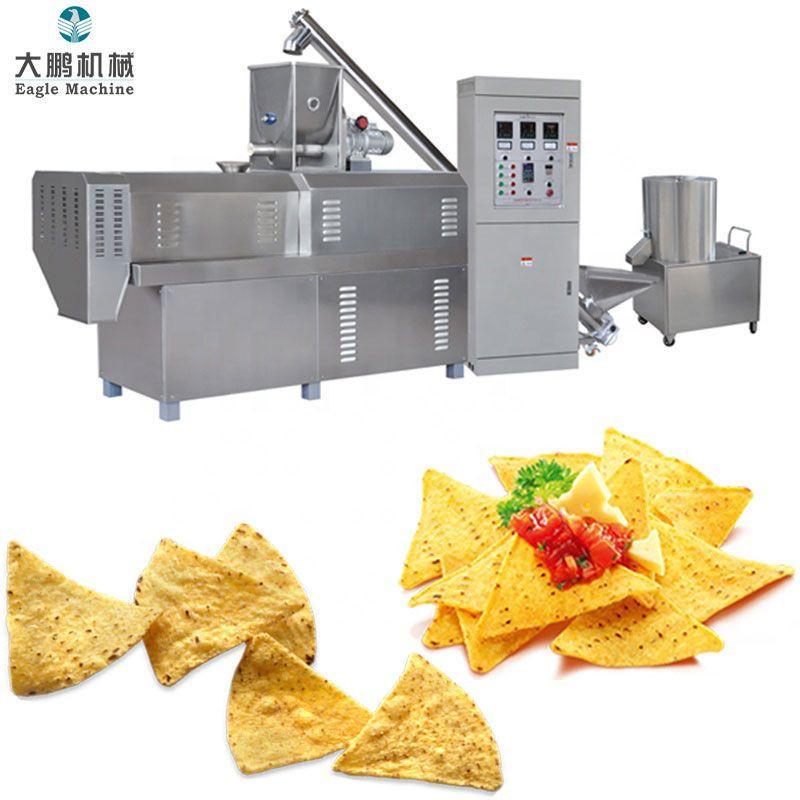 Corn puffed chips snacks making machine
