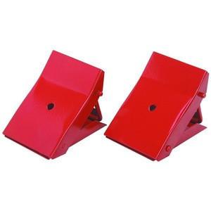 2 pcs Handy Folding Foldable Metal Wheel Chocks