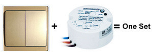 2016 Innotech 2gang 2way kinetic self-powered wireless remote control light switch
