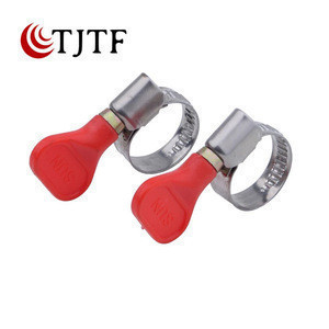 9mm bandwidth red or bule plastic hand tighten hose clamp