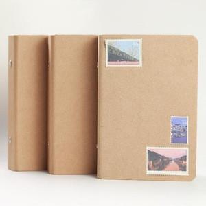 A6 Kraft Spiral Notebook Cover Loose Leaf Binder Folder Notebook Accessory Sheet Shell Office School Stationery