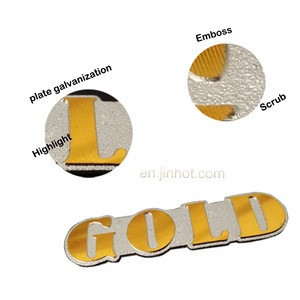 Accept paypal embossed metal logo with brushed surface functional in widely industry