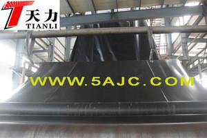 Black smooth hdpe geomembrane