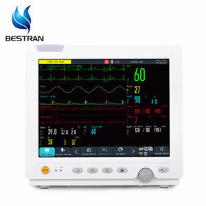 BT-PM02 Cheap Clinic Medical Equipment portable Bedside Mulit-Parameter Patient Monitor/ICU monitor ambulance use