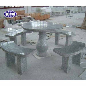 China Grey Outdoor Stone Chess Table With Good Price