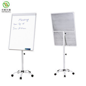 Classroom writing white board standard size classroom flip chart easels for sale