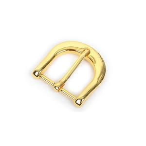 Custom electroplating gold metal pin belt buckle high quality reversible metal pin belt clasp buckle