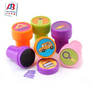 Customized LOGO High quality plastic Self Inking Stamp Cute Stamper for kids