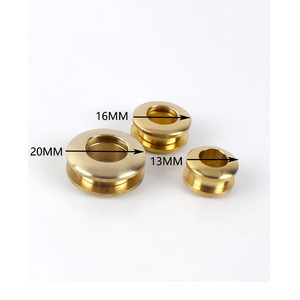 Deepeel KY320 11-28mm Solid Brass Screw Eyelets Leather Craft Grommets Accessory for Bag Garment Shoe Clothes Jeans Decoration