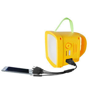 Emergency 1W Solar FM Portable Radio with Lantern and Phone Charging for Earthquake Disaster Area