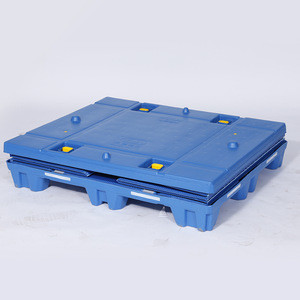 Foldable HDPE and PP honeycomb plastic pallet crate