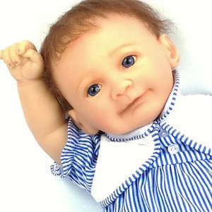 Handmade Real Looking Weighted Newborn Soft Vinyl Baby Doll for Collection