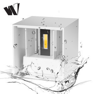 High power waterproof dimmabl bathroom ip65 COB 6w indoor reading mounted wall lamp