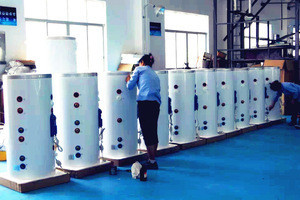 High pressure stainless steel insulated   hot water thermal tank with heat exchanger and electric heater