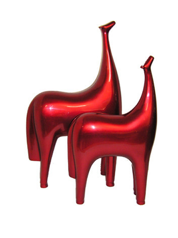High quality best selling modern LV Arts Lacquer Horse Sculpture purple, Pair 2015 from Vietnam