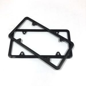 High quality USA standard size twill gloss carbon fiber car license frame holder manufacturer in china