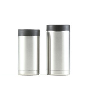Hot sale 12oz/14oz/16oz double wall vacuum thermos beverage cola beer bottle insulator stainless steel slim can cooler holder