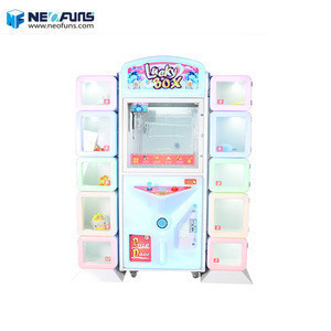 Lucky box coin operated pusher game machine