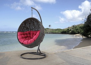 Outdoor Furniture Swing Chair And Metal Waterproof Customized Style Fabric Packing Modern Cushion