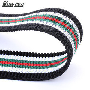 Personalized Multi color 2.5cm Striped Elastic Y shape Kids Elastic and PU Iron buckle Custom suspender