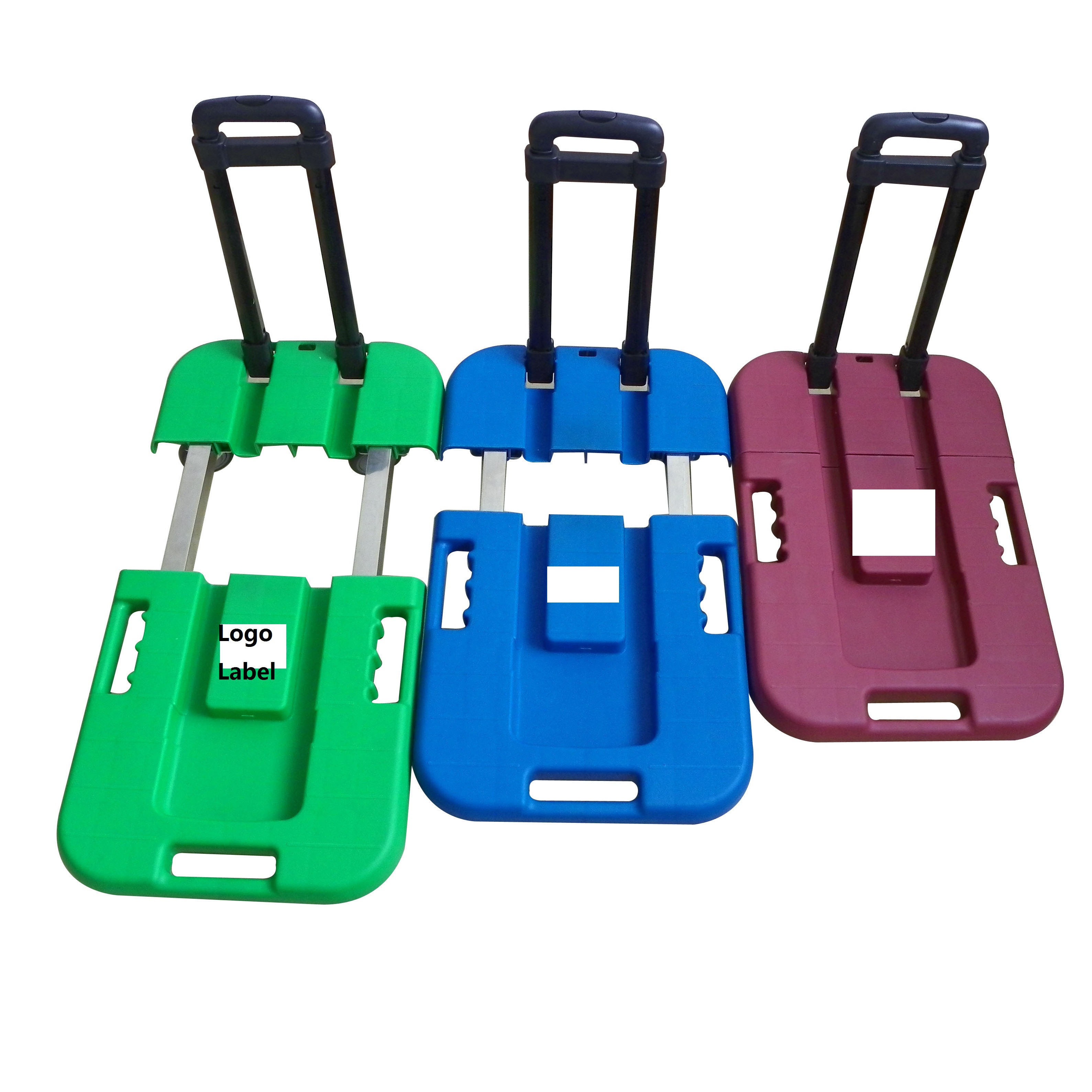 Retractable collapsible folding wheel dolly trolley tool cart