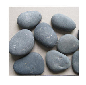 River stone black pebbles