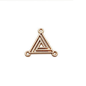 Special small triangle sewing design garment tags swimwear engraved logo metal label for hat/shoe
