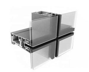 Strong safe and durable apartment building office building glass exterior wall curtain wall