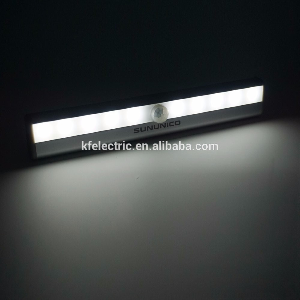 Warm White Auto 10 LED PIR Infrared Motion Detector Wireless Sensor Closet Cabinet Bar Light Lamp,closet
