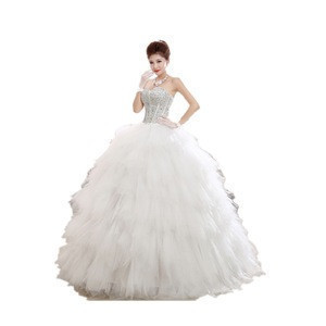 White Wedding Gowns Gelinlik High Neckline Long Sleeve Lace Wedding Dress with Detachable Skirt
