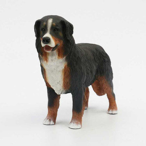 Wholesale Artificial Cute Bernese Mountain Dog Decorative Resin Crafts Figurines Arts And Crafts